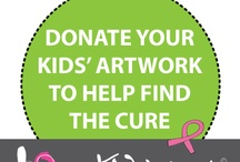 Note cards that give / Note cards made from kids' artwork donations to Kids' Art for The Cure Program. 100% of profit goes to cancer foundations to help find The Cure of cancer. / by I Love my Kids' Art