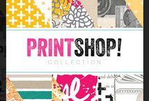 Printshop - Fall 2013 / Get set to experience a wonderful world of color with Printshop from Studio Calico. This brilliantly colored collection offers the appeal of classic printing: hand-drawn graphics and lettering in brilliant shades of bright pink, sunshine yellow and seafoam green. Icons of cameras, hashtags, ampersands and basic geometric shapes compliment trendy patterns, floral prints and handwritten script.  / by Studio_Calico
