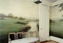 Decor-Murals, Wallpaper, Concrete / ~Murals, Pictures and Ideas to Paint~  Concrete Techniques for Walls / by Carey Kennon
