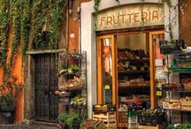 Cafes ♦ Storefronts ♦ Streets / ༺♥༻ I am seduced by Europe's Cafes, Bistros,Trattorias and Narrow Alleyways. I feel as if I am there. I can smell the Fromagerie, taste the Chocolat, and long for a good seat at the Bistro De Bastille. ༺♥༻ / by ❤Rosemary Brown❤