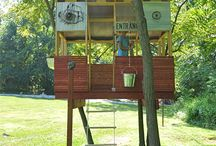 Tree house/fort ideas / by Jennifer Lutz
