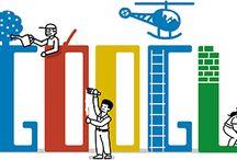 Google Doodles / Doodle é uma palavra inglesa para referir um tipo de esboço ou desenho realizado quando uma pessoa está distraída ou ocupada. A palavra portuguesa é 'rabisco'. São desenhos simples que podem ter significado concreto de representação ou simplesmente representar formas abstratas.  / by Claudia Regina