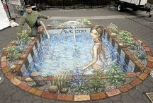 The Chalk Man Pics / These masterpieces of art are all done with chalk. They appear to be 3 dimensional, but they are actually flat.  / by Paula Dawn Sweet-Carter
