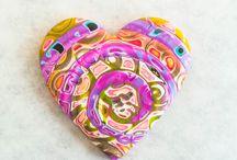 Creative Polymer Hearts / I 3> Polymer Clay. / by Karen Bowen