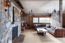 Juniper Hills / High Camp Home - Truckee, California | Rustic Interior Design -  Not a square inch of this home was untouched by High Camp Home's design and build teams in this complete mountain home remodel. Barnwood beams and planks were used throughout the home, on ceilings and walls to add warmth to the large spaces and complement the stunning views. Multiple types of stone in combination with wood, metal, and stainless steel finishes result in a beautiful unification of textures and tones. / by High Camp Home (HCH)