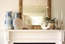 Fireplaces ~ Mantels ~ Decorated Fireplaces / by The Decorated House ♛ Donna
