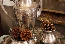 Silver Tea Set repurposed / by Shelly Gilbert