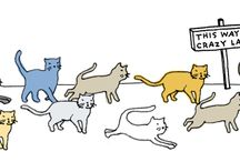 CATS!! / I'm one of those crazy cat ladies. I admit it. / by Elyn Hamilton