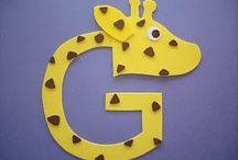 Letter G: giraffe / by Izzie, Mac and Me