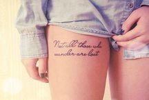 Tattoos  / by Christine Curtis