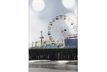 Santa Monica Pier Grey Sparkles Photo Edit / Vintage grey (or light blue) photo edit of a photo we shot in April 2010. It's the Santa Monica Pier in Los Angeles. Please note that the effect makes the photo appear blurry! / by Christine aka stine1