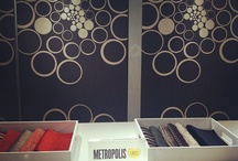 """#MetropolisLikes at NeoCon / 3M Architectural Markets paired up with Metropolis Magazine to create """"Metropolis Likes,"""" a campaign showcasing the favorites of Metropolis Mag's editors during NeoCon World's Trade Fair in Chicago. The signs awarded to the favorites were created using 3M™ Fasara™ Glass Finishes. All photo credit goes to Metropolis Magazine.  / by 3M Architectural Markets"""