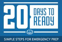 20 Days to Ready / Simple Steps for Emergency Prep - follow along for 20 days of tips, tricks and information! / by Allstate Insurance