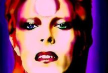 **Bowie is a god / David Robert Jones~Ziggy Stardust~The Thin White Duke~Iconic Almighty Guru~Aladdin Sane~Jean Genie~Starman~Major Tom~The Man Who Sold the World~Cracked Actor~The Man Who Fell to Earth...the epitome of cool.                                  / by Lisa Golab