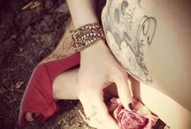 Skull tattoo and RED wedges! Love love  / Skull tattoo and red wedges!! Love!  / by Rebecca DuVall
