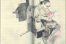 Croquis - illustration - peinture - graphisme / by Clémence Gouache