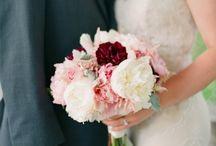 Rustic Romance / Blush, burgundy, cream, heather gray for Sara / by Jenna Henderson
