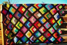 crochet afghans and pillows / by Sandra Massey