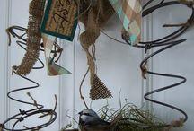 bed spring crafts / by Marla Herrington