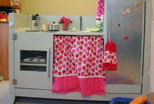 Baker's Dozen: DIY Play Kitchens / Are you a little handy? Then there's no need to buy a play kitchen. Why not make one of these instead? / by Angie Wynne