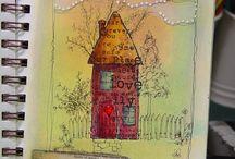 tekenen, kleuren, schilderen, plakken ..... / by Anja Kooiman