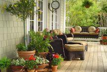 porches & patios / by Amy Hobbs Mahoney