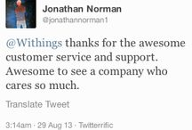 Withings Customer Service / Here are the comments made by Withingers about our webstore, handliing/shipping, and customer support. / by Withings