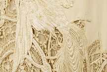 old fabric and lace / by Jill McNeilly