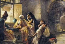 Frederick Arthur Bridgman / Frederick Arthur Bridgman-An Interesting Game / by Masterpiece Art