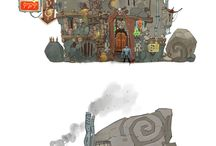 environments concept / by Maciek HoneyFlavour