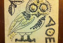 Owl Mosaic / A pebble mosaic based on an Ancient Greek coin of Athena's owl. / by Denise Cicuto