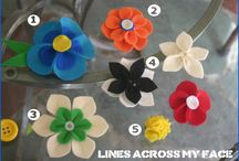 felt flowers / by LADY JANE