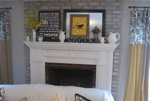 it started with MANTELS / by Linda @ it all started with paint blog