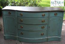 Altar'd Portfolio / Portfolio of refinished Furniture from www.altard.com / by Mandie Morris/ Altar'd