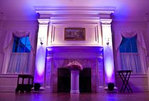 purple uplighting / examples of purple uplighting for weddings and events / by Superlative Events