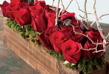 Red Flowers / by Petals and Leaves Wedding and Event Florist