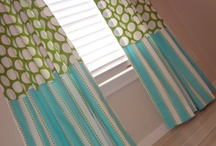 Window Treatments CONTEMPORY / Custom Contemporary style draperies...fun styles, cool colors.. / by Danielle Anderson
