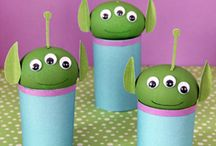 Outer Space Crafts / Here are some of our favorite outer space crafts.  Check out Green Kid Crafts products on http://www.GreenKidCrafts.com / by Green Kid Crafts: Eco Friendly Creativity and Science Kits