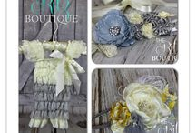 Romper Sets / Necklace / Headband / Sash / by The Ritz Boutique
