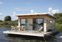 HOUSEBOATS ... /  one can only DREAM... houseboats, boathouses or houses ON the water / by Cecilia Russell