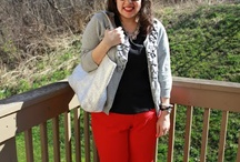 How to wear red plus size pants! / by Jessica Kane SKORCH MAG