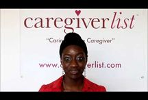 Caregiver Videos from Caregiverlist / Seniorcare videos especially designed for caregivers and certified nursing aides, with focus on employment tools and resources for senior caregivers. Caregiverlist is the only national senior care referral and career website created by experienced senior care industry professionals. For more info visit www.caregiverlist.com or view Caregiverlist Videos on YouTube! / by Caregiverlist