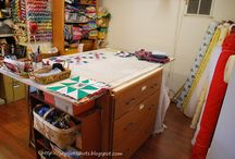 Sewing Spaces / Ideas for sewing rooms / spaces... / by Pam ~ Threading My Way