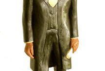 Abe Lincoln / by Primitive Folk Artist Sue Corlett