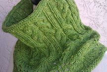 KNITTING COWELS, SCARVES AND SHAWLS / by Michelle Kuzniar