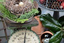 Vintage kitchen scales / by Priscilla Savala