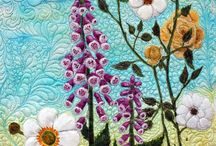 Flower art quilts / by colleen pell thompson