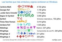 Usar simbolos, signos y caracteres especiales / Imágenes que ayudan a conocer cómo usar en Windows los símbolos, signos y caracteres especiales Unicode, para adornar y decorar documentos y páginas web. También como usarlas en Facebook y otras redes sociales. / by NorfiPC