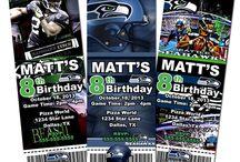 Jackson's 1st birthday / Jackson's 1st birthday, Seahawks theme! / by Jessica Tufts