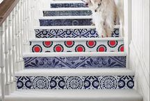 stairs / Finally dumping the hideous carpet runner on the entryway stairs & brainstorming ideas... / by Jessie Jury